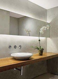 u ma dica de iluminação para banheiros e lavabos é a utilização de mangueiras de led ou fitas de led ocultas na parte de trás do espelho, c...