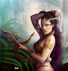 Renenutet - a protective snake goddess; a provider and nourisher of infants, including giving newborns their name, determining their destiny and how long they would live; her loving care of her son Nepri (Corn) paralleled the mother/son relationship of Isis and Horus