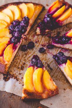 Peach and Blueberry Brioche Tart Recipe   DeliciousEveryday.com An indulgent weekend breakfast treat #breakfast