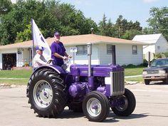 Purple KSU Wildcat John Deere - Lenora, KS