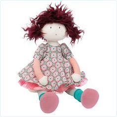 Stoffpuppe Jeanne (Kleid Ornamente) - Moulin Roty - www.lolakids.de