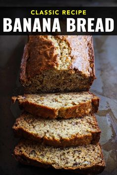 Looking for a classic banana bread recipe that is moist and full of flavour? This is Grandmas easy recipe that is perfect for breakfast, brunch or a healthy snack. This is not an eggless banana bread, it uses overripe bananas, butter, walnuts and sugar like old fashioned banana bread. A gluten-free dessert it is perfect for everyone. Banana recipes. Gluten free desserts. Gluten free baking. Banana bread recipe moist. #quickbread #grandmas Grandma's Banana Bread Recipe, Ripe Banana Recipe, Banana Bread Ingredients, Banana Walnut Bread, Homemade Banana Bread, Moist Banana Bread, Banana Nut, Recipes For Old Bananas, Healthy Banana Recipes