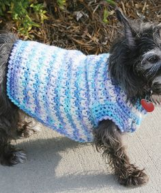 Free Crochet Dog Sweater Pattern.cant believe im pinning this but ninja hates to have her hair brushed so i keep it short need i say more