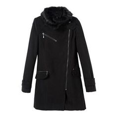 Coats - Faux Fur Zippered Black Woolen Coat #Pariscoming #Paris #fallfashion #fallstyle #falltrends #fallingfor #fall #winterfashion #winterstyle #wintertrends #winterfor #winter #cardi #clothing #inspirational #fashionable #ontrend #stylist #Styling #StreetStyleSeason #streetstyle #fashionblog #fashiondiaries #fashiondiary #WearIt #WhatYouWear If you like,follow me back and find it on our online store.