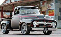 Holy Cow This car is my dream whip. So incredible Ford 56, 56 Ford F100, 1956 Ford Truck, Old Ford Trucks, Pickup Trucks, Classic Ford Trucks, Classic Cars, Cool Trucks, Cool Cars