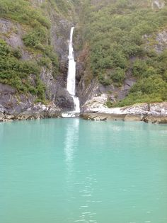 By Sawyer Glacier - Tracy Arm Fjord - September 2012 - one of many waterfalls
