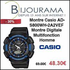 #missbonreduction; 20,7 € de réduction sur la Montre Digitale Multifonction Casio AD-S800WH-2AVEF - Homme chez Bijourama.http://www.miss-bon-reduction.fr//details-bon-reduction-Bijourama-i851979-c1831663.html
