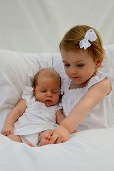 Swedish Princess Estelle and her little cousin Princess Leonore