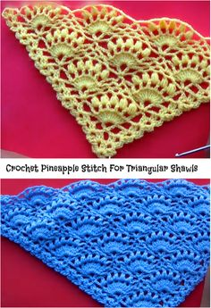 pineapple stitch for shawls