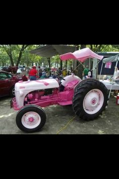 Pink tractor:)