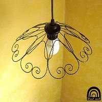 Wire Hangers, Wire Art, Sculptures, Projects To Try, Ceiling Lights, Pendant, Instagram, Ideas, Home Decor