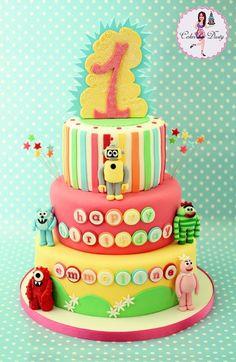yo gabba gabba birthday cakes | Yo Gabba Gabba Birthday Cake | Fancy Cakes