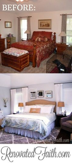 How To Create A Dream Bedroom On A Budget www.renovatedfaith.com #bedroommakeover #roomreveal #budgetdecor