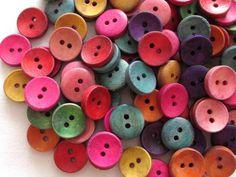 ハンドメイド 手芸用ウッドボタン カラフル100個15mm 訳ありセール No.2403 Handmade button ¥300yen 〆04月21日