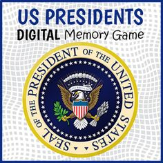 DIGITAL US Presidents Memory Game - US Presidents Matching Game | TpT Fun Classroom Activities, Educational Games For Kids, Memory Games, Matching Games, Us Presidents, Memories, Teaching, Digital, Educational Games For Children