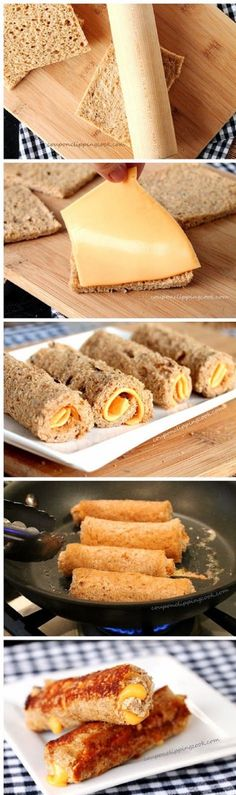 Grilled Cheese Roll Ups - 15 After School Snacks for Kids | GleamItUp