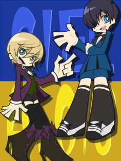 Black Butler Panty and Stocking style!