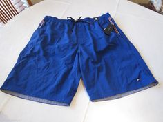 Tommy Hilfiger XXL 2XL Nile royal blue 431 7831006 Mens swim trunks board shorts #TommyHilfiger #Trunks
