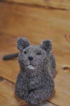 Needle Felted Cat by Teresa Perleberg