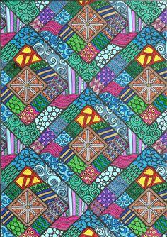 Coloured By Karen Oderkirk. Using Gel pens.