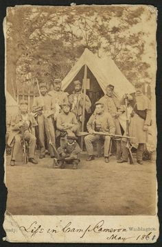 New York State National Guard, note the little boy mascot or servant, 1861.