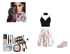 fashion styling project by ioannaelli on Polyvore featuring Boohoo, Puma, Burberry, Anastasia Beverly Hills, Elizabeth Mott, L'Oréal Paris, NARS Cosmetics, MAKE UP FOR EVER and Daum