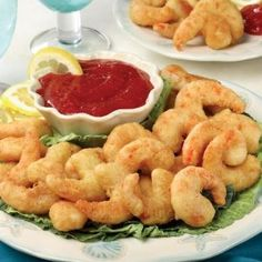 Omaha Steaks Oven Fried Shrimp with Cocktail Sauce by Omaha Steaks $30.00 A traditional favorite at seafood restaurants, our Oven Fried Shrimp is sure to become a family favorite, too! We start with tender, meaty jumbo shrimp then we dip them in a golden crispy batter. All you do is bake and serve! It doesn't get much easier than that. Pair them with our Sweet and Tangy Cocktail sauce for the perfect appetizer, or serve with fries and coleslaw for a delicious meal.