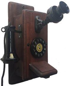 Telefone Antigo Retro Vintage Minitel Mogno - R$ 270,00