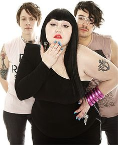 Beth Ditto ... I love her.  She makes me want to look at her.  She says she's decided that she's going to love every part of her, and for me, she's succeeded at portraying an impeccable sense of self confidence I find her admirable and intoxicating. Plus, she's an amazing singer/performer.  Check her out.