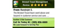 The Brickell Travel team went above and beyond in customer service and care.
