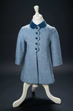Love, Shirley Temple, Collector's Book: 476 Blue Woolen Coat and Bonnet with Velvet Trim Worn by Shirley Temple