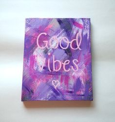 Good vibes bohemian acrylic canvas painting for by StarrJoy16