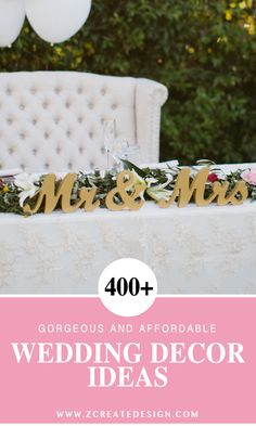 Over 400 Wedding Decoration Ideas & Unique Signs for Your Big Day! Gorgeous sweetheart table signs, table numbers, bridal accessories & gifts... and so much more! | Handmade Wedding Decor & Gifts at www.ZCreateDesign.com... or shop ZCreateDesign on Ets