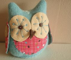 home made vintage/retro looking owl doll