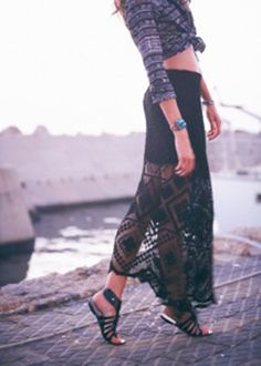 From SwankAtlanta: Kenny Crochet Skirt in Black