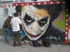 Graffiti ~ Street Art ,El Joker en el arte urbano