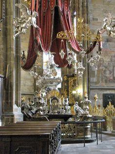 Interior of St Vitus's cathedral, Prague Castle - Travel Photos by Galen R Frysinger, Sheboygan, Wisconsin Prague Architecture, Sheboygan Wisconsin, Continental Europe, Prague Czech Republic, Prague Castle, Beautiful Buildings, Study Abroad, Budapest, Cottages