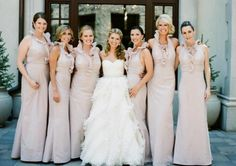 in Petal Taffeta Brides And Bridesmaids, Bridesmaid Dresses, Wedding Dresses, Video Photography, Wedding Photography, Love Birds Wedding, Pretty, Long Dresses, Champagne