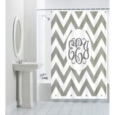 Design Your OWN-- Custom, Personalized, Monogrammed, Designer Shower Curtain via Etsy Tranquil Bathroom, Custom Shower Curtains, Monogram Styles, Do It Yourself Projects, Creative Decor, Design Your Own, Bathrooms, Guest Bed, Etsy