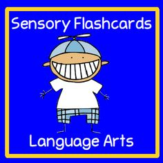 Sensory flashcards are a great way to incorporate the five senses to your lessons.