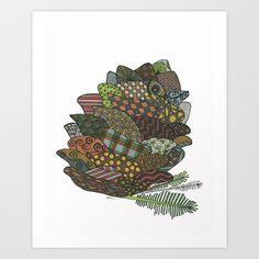 Pine Cone Art Print by Nina Gibson