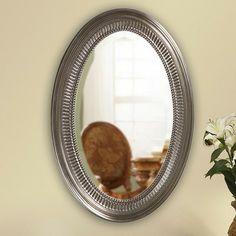 Howard Elliott Ethan Oval Mirror In Brushed Nickel