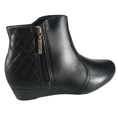 2a0f02c93 Bota Feminina Modare Ultra Conforto Anabela 7048.210 5536 15745 - Preto  (Napa Sense Flex) - Calçados Online Sandálias, Sapatos e Botas Femininas |  Katy.com. ...