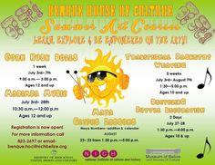 Benque Summer 2017 Art Courses