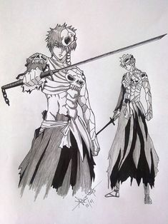 Bleach Drawing, Bleach Art, Bleach Anime, Venom, Cool Artwork, Pencil Drawings, Samurai, Naruto, David