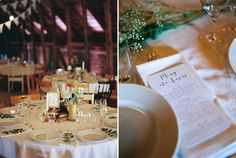 Menus and table decor