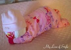 Sleeping Diaper Baby Adorable For A Baby Shower Baby
