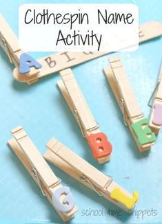 Clothespin Name Learning Activity for Preschoolers Clothespin Name Activity for preschoolers; letter and name recognition and fine motor skills, too.Clothespin Name Activity for preschoolers; letter and name recognition and fine motor skills, too. Preschool Names, Preschool Learning, Early Learning, Fun Learning, Letter H Activities For Preschool, Preschool Colors, Preschool Alphabet, Learning Letters, Preschool Kindergarten