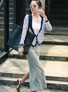 Beautiful Slim Pure Color Cotton Long Skirt : Tidebuy.com