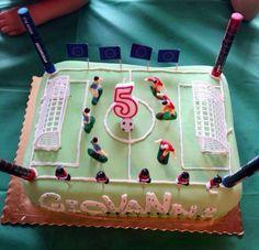 Torta Compleanno Campo Calcio